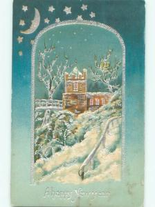 Divided-Back NEW YEAR SCENE Great Postcard AA2099