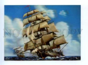 164910 Ship English Sailing Vessel old 3-D Toppan postcard