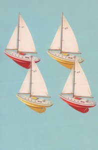 Childrens Toy Model Sailing Boats Yachts Ladybird Old Book Postcard