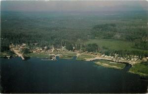Cranberry Portage Manitoba~Birdseye Viking Lodge~1950s Postcard