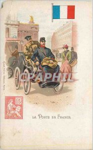 Postcard Old La Poste in France Mouchon Postman