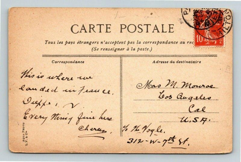 Dieppe France, Le Casino Vintage Postcard