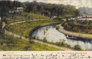 Illinois Peoria View Of Lake At Glen Oak Park 1906