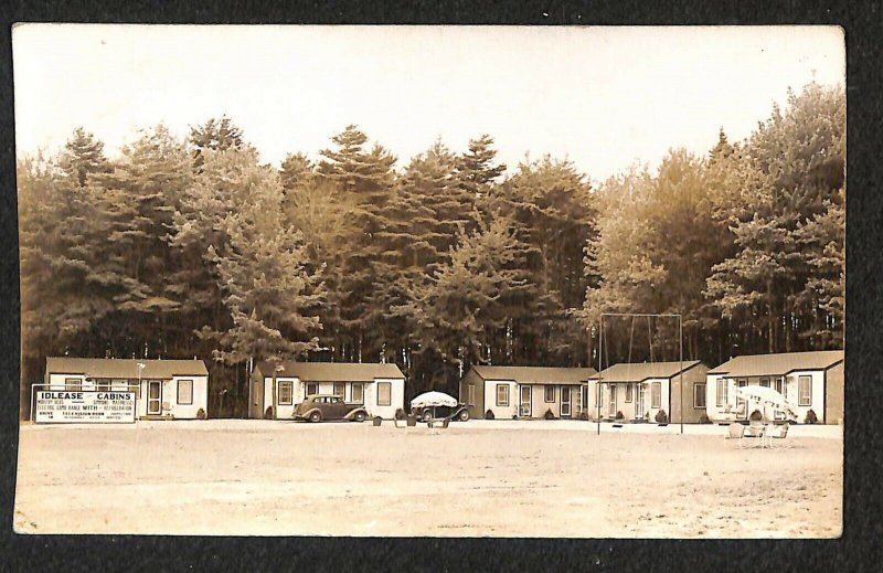 Kennebunk ME Idlease Cabins on Route 9 Real Photo Postcard