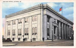 New Post Office, Altoona, Pennsylvania, Early Linen Postcard, Used in 1936