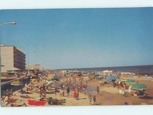 Unused Pre-1980 BEACH SCENE Rehoboth Beach Delaware DE G5550
