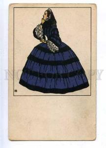 185729 Biedermeiermode Lady Vintage WIENER WERKSTATTE #125