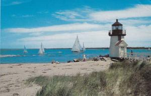 Sailing at Brant Point Light House - Nantucket MA, Massachusetts