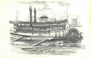 The Becky Thatcher Steamer, Steam Boat, Steamboat, Ship, Ships, Postcard Post...