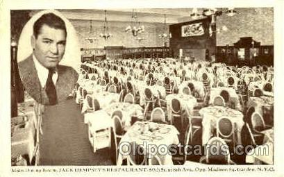 Jack Dempsey, Madison Square Garden, New York, USA Boxing Postcard Post Cards...