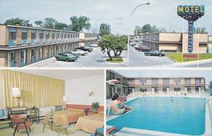 MONTREAL, Quebec, Canada, PU-1984; Motel Metropole, Swimming Pool, Room