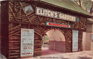 F34/ Denver Colorado Postcard c1910 Elitch's Gardens Entrance Resort