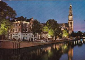 Netherlands Amsterdam Prinsengracht With Western Tower