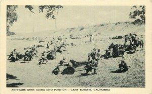 Anti Tank Guns Camp Roberts Military 1940s San Luis Obispo California WW2 12563