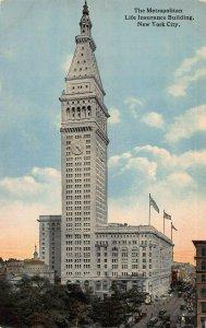Metropolitan Life Insurance Bldg., New York City, Early Postcard, Unused