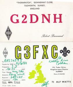 Kingston Upon Thames Surrey QSL Amateur Radio 1960s Postcard