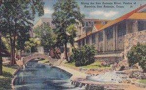 Along The San Antonio River Venice Of America San Antonio Texas