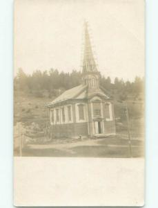 rppc Pre-1918 Architecture construction CHURCH ALMOST DONE BEING BUILT AC7709