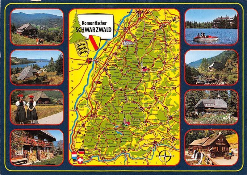Romantischer Schwarzwald Stadtplan Map multiviews Mill Muehle Campingplatz