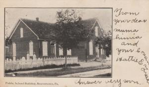 BEAVERTOWN , Pennsylvania, PU-1907; Public School Building