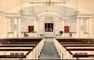 Florida Pensacola Naval Air Station Chapel 1940 Curteich