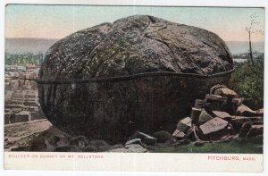 Fitchburg, Mass, Boulder On Summit Of Mt. Rollstone