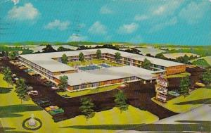 North Carolina Charlotte Heart Of Charlotte Motor Inn 1965