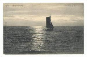 Ship @ Sea / Coucher de Solell,Nieuwpoort,Belgium 1919 PU