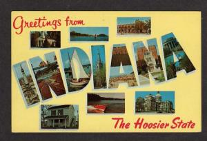 IN Greetings from INDIANA Large Letter Postcard PC
