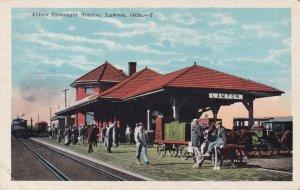 LAWTON , Oklahoma , 1910s ; FRISCO Railroad Train Station