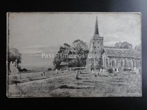 Essex DANBURY CHURCH Artist Ernest Pile Bucknall Old Postcard by E.P. Bucknall