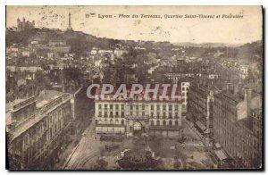 Postcard Old Lyon Place Bellecour Saint Vincent and Fourviere
