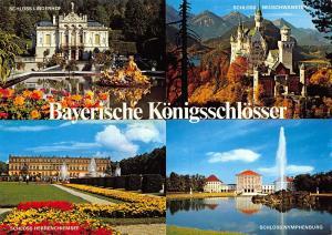 Bayerische Konigsschlosser Herrenchiemsee Linderhof Neuschwanstein Postcard