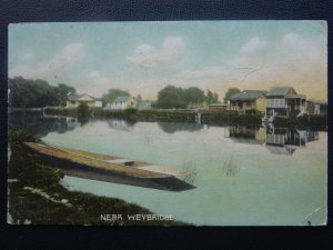 Surrey Nr WEYBRIDGE Houses on Bank of River Thames c1906 Postcard by Misch & Co.