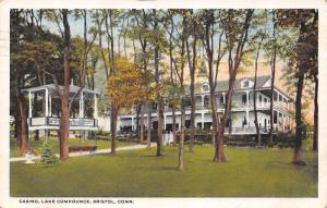 Bristol Connecticut~Lake Compounce Casino~Band Stand in Trees~Porches~1921 PC