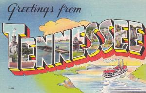 5-Views, Large Letters, Greetings from TENNESSEE, 30-40s