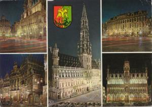 BRUSSELS, multi view, 1988 used Postcard