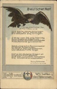 WWI German Military Propgana Patriotic Notice Fanny Schleisher c1915 Postcard