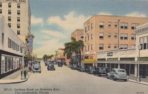 North On Andrews Avenue, Sunset Theatre, National Bank, Etc., Fort Lauderdale, F