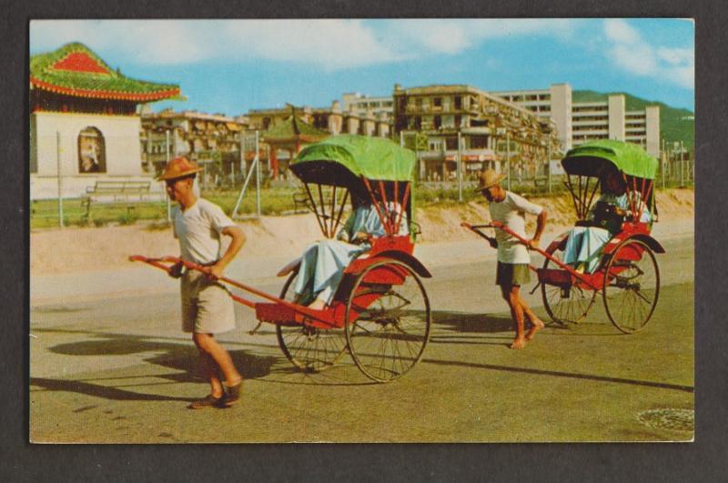 Rickshaw Pullers In Hong Kong - Used 1960