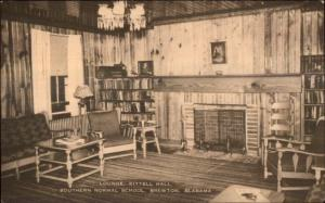 Brewton AL Southern Normal School Kittell Hall Lounge Postcard