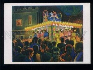 209128 Sri Lanka Vladykin celebration of Buddha in Kandy old postcard