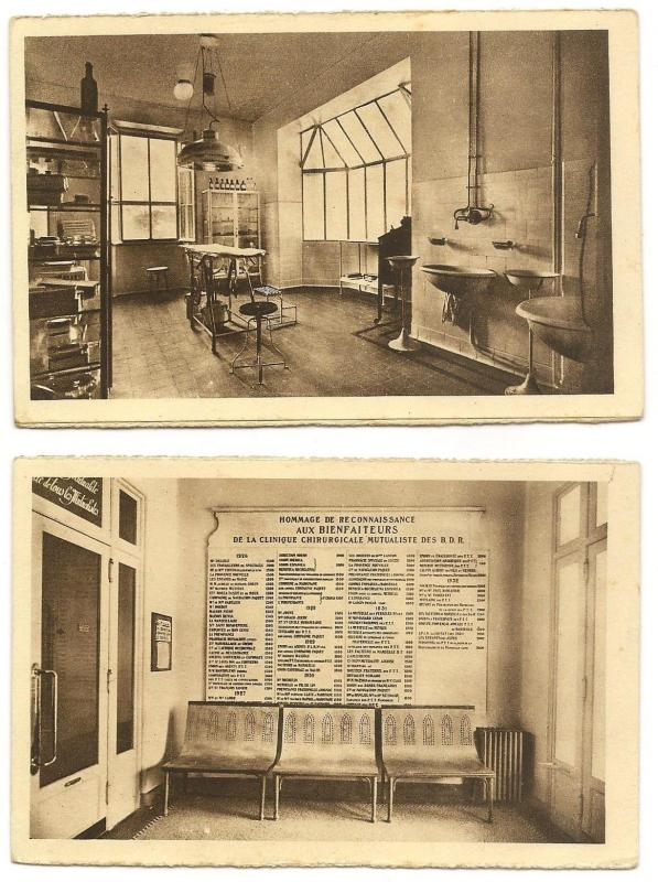 Medicine - Surgery Rooms & Hospital vintage postcards (5)