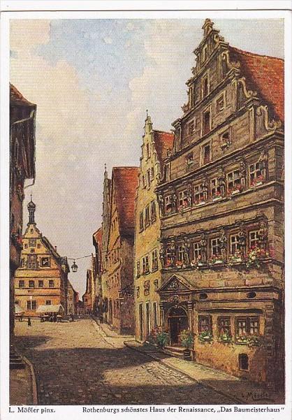 Germany Rothenburg Das Baumeisterhaus Das Schoenste Haus Der Renaissance
