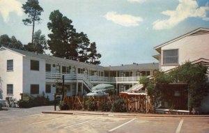 HIDE-A-WAY INN Carmel-by-the-Sea, California Roadside ca 1950s Vintage Postcard
