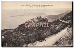 Old Postcard Eze Route De La Grande Corniche