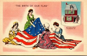 Pennsylvania Philadelphia Betsy Ross House The Birth Of Our Flag