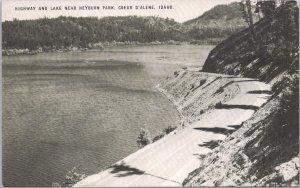 Coeur D'Alene, Idaho, Highway and Lake near Heyburn Park-Conoco Touraide Card