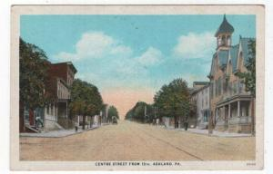 Ashland, Pennsylvania,  Early View of Centre Street From 13th.