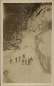 Littleton NH Skiing c1920 Real Photo Postcard